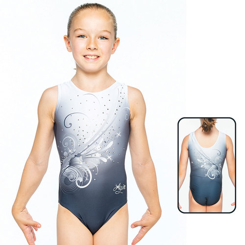 Leotard in Mat Look Printed 1559