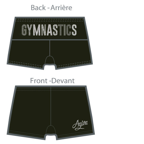 Short of gymnastics in Microfiber 3722S