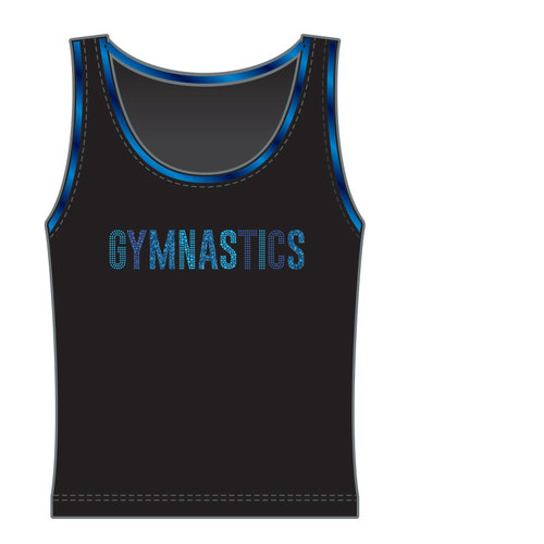 Gymnast top in microfiber 9714T