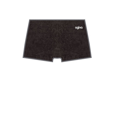 Hot Pant in Crushed Velours Black  (450) 3768 450