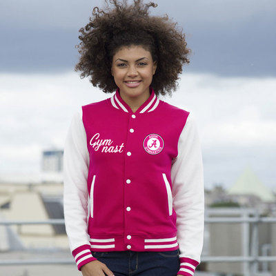Teddy college jacket Rose 9793F