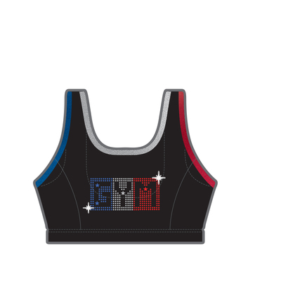 Gymnast top in microfiber 9710