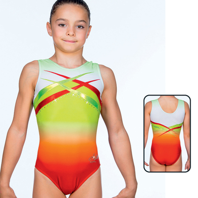 Leotard in Mat Look Printed 8659
