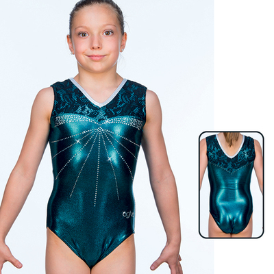 Leotard in Metallic Elastane 8728