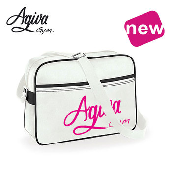 Sports Bag PU White - vintage look