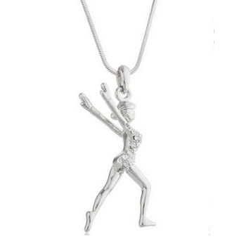 Pendant Gymnast with Strass 95193