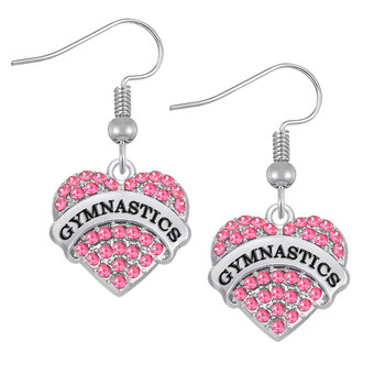 Earrings Heart Rhinestone 95289