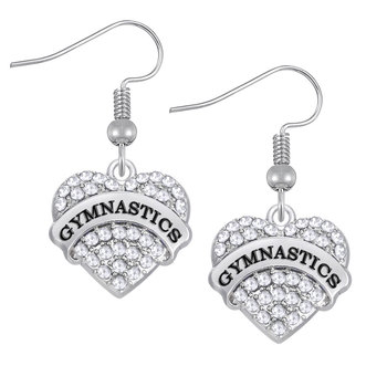 Earrings Heart Rhinestone 95290
