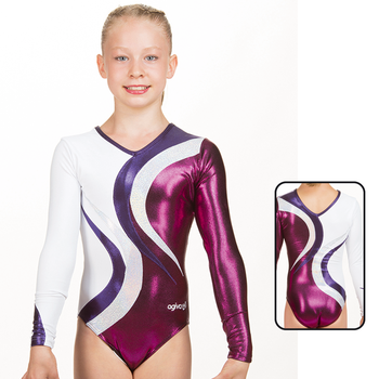 Leotard in Metallic Elastane 8879