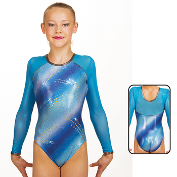Leotard in Metallic Hologram Elastane 8893