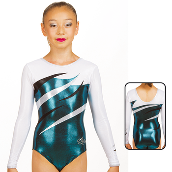 Leotard in Metallic Elastane 8899