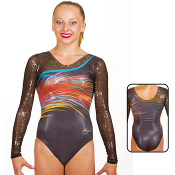 Leotard in Metallic Hologram Printed