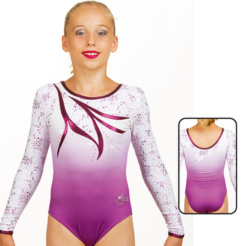 Leotard in Mat Look Printed 8928