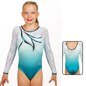 Leotard in Mat Look Printed 8929