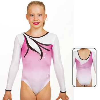 Leotard in Mat Look Printed 8932