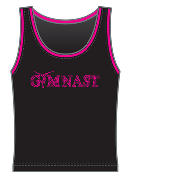 Gymnast top in microfiber 9788F