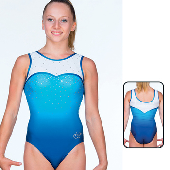 Leotard in Mat Look Printed 8691
