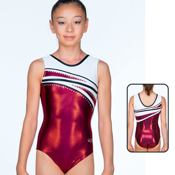 Leotard in Metallic Elastane