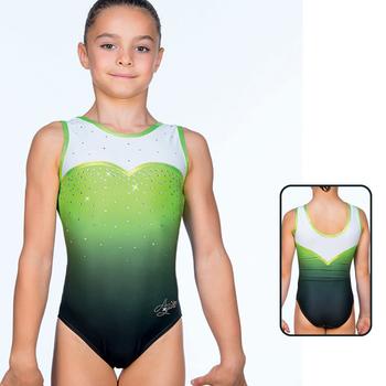 Leotard in Mat Look Printed 8704