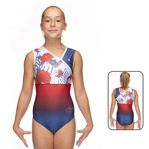 Leotard in Mat Look Printed 1866